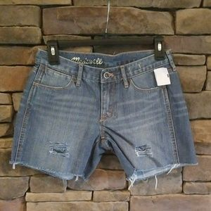 Madewell Distressed Jean Shorts.  NWT.